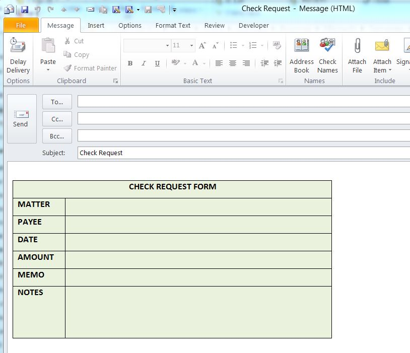 Using Outlook Templates to Send Emails of a Frequent Type - saco media