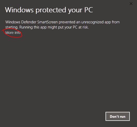 Windows Protected more info image