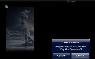 Deleting Movies Directly from Your iPad